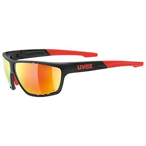 uvex Unisex– Erwachsene, sportstyle 706 Sportbrille, anthracite-red, one size
