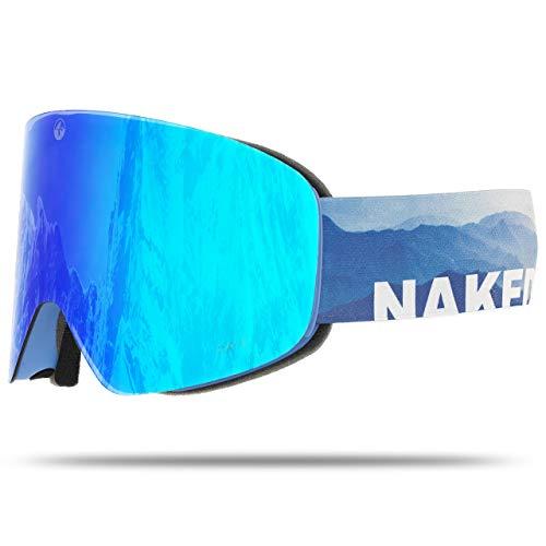 NAKED Optics Troop EVO Misty (Blue Lens), inkl. Schlechtwetterglas