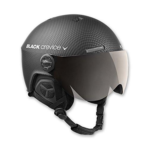 Black Crevice Skihelm mit Visier, Gstaad, BCR143921, schwarz Carbon, Gr. M/L
