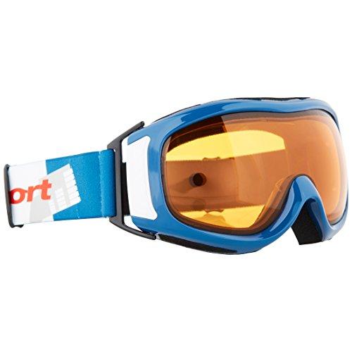 Ultrasport Skibrille / Snowboardbrille mit Doppelscheibe, blau/weiß/orange