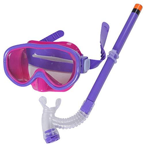 Pioneer Clan Kinder Silikon Scuba Schwimmen Schwimmen Tauchen Maske Schnorchel Gläser Set Anti Nebel Skibrille, violett
