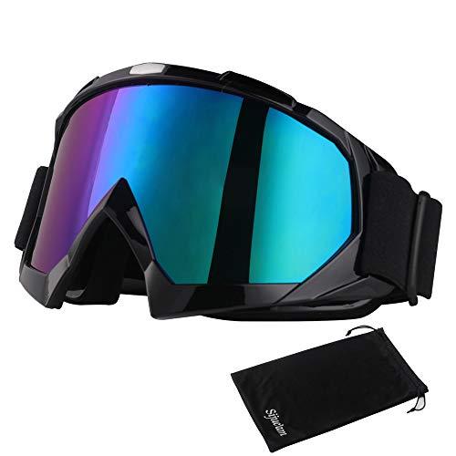 Japace Motorradbrillen Skibrille Anti Fog UV Schutzbrille mit Double Lens Schaumstoffpolsterung für Outdoor Aktivitäten Skifahren Radfahren Snowboard Wandern Augenschutz