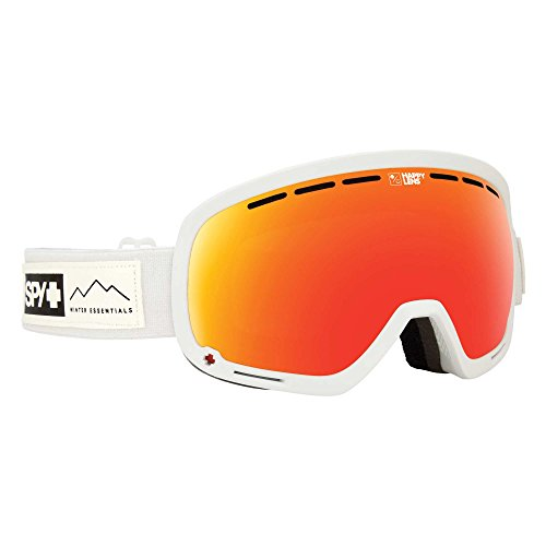 Spy Goggle Marshall Skibrille, Waxed White/Happy Gray Green/Red Spectra Happy Yellow w/Lucid Green, One Size