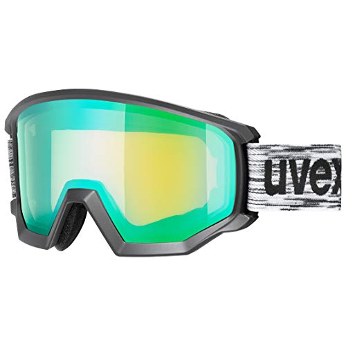 uvex Unisex – Erwachsene, athletic FM Skibrille, black mat, one size