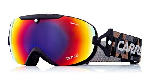 Carrera Damen Skibrille Mirage Sph, Shwarz/Matt/Graphic/Rosa Polar, Einheitsgröße
