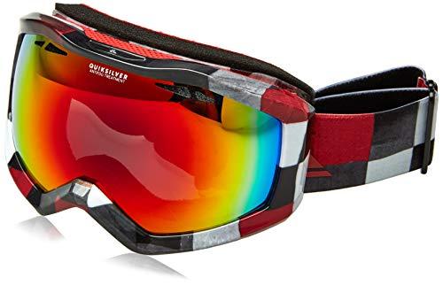 Roxy Quiksilver EQYTG03059 Skibrille, für Herren, Weiß Check Atomic, Einheitsgröße