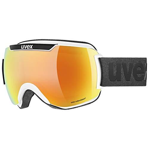 Uvex Unisex– Erwachsene Downhill 2000 CV Skibrille, White Black/orange-Green, one Size