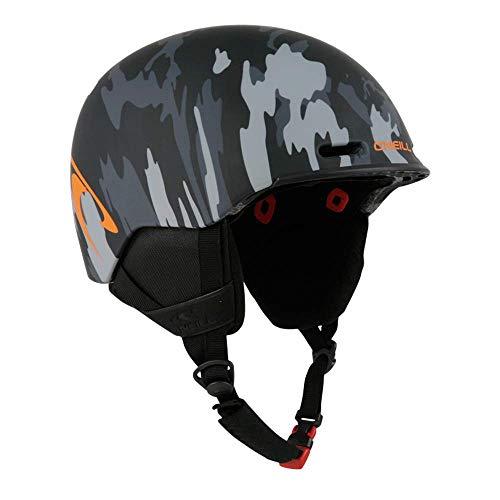 Indigo O'Neill Helm Pro Camou | Camouflage Schwarz | Ski & Snowboard Helm (Camouflage Schwarz, L | 58-61)
