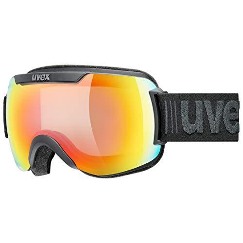 uvex Unisex– Erwachsene, downhill 2000 V Skibrille, black mat, one size