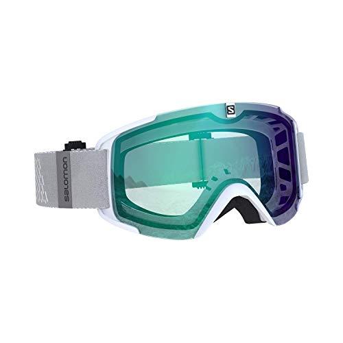 Salomon, Xview Photo, Unisex-Skibrille, Weiß/AW Blue, L40844200