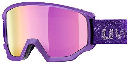 Uvex Unisex-Erwachsene Athletic FM Skibrille, Deep-Violet Matt, Einheitsgröße