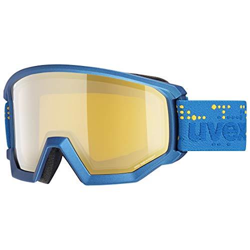 uvex Unisex-Erwachsene Athletic FM Skibrille, underwater mat/gold-lgl, Einheitsgröße