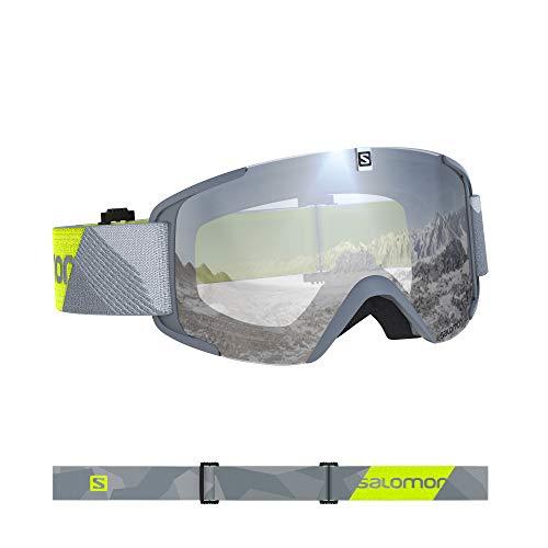 Salomon, Xview, Unisex-Skibrille, Grau-Neon Gelb/Universal Super White, L40844600