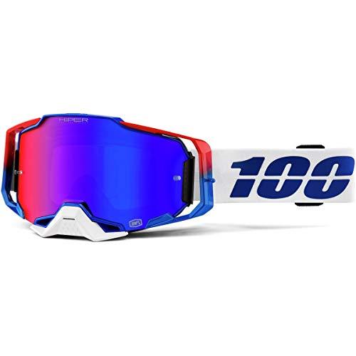 100% ARMEGA Goggle Genesis HiPER Blau / Rot Spiegellinse, Erwachsene