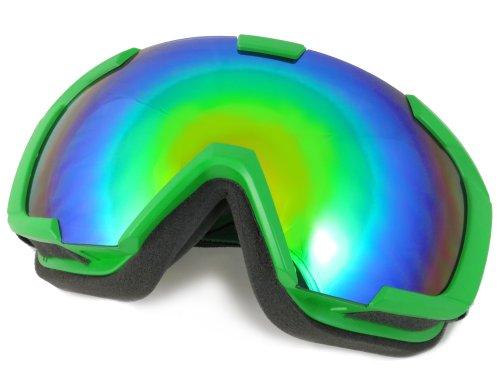 NAVIGATOR RHO Skibrille Snowboardbrille, Unisex/-Size, div. Farben (GRÜN)