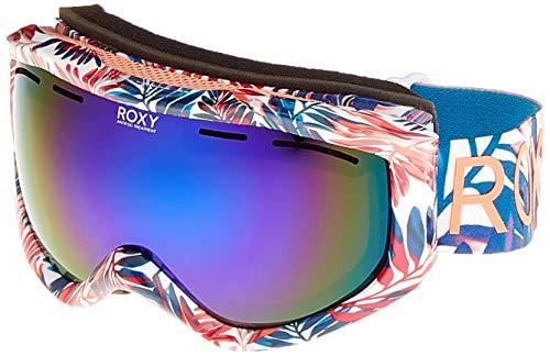 Roxy Damen Sunset Art Series-Snowboard-/Skibrille für Frauen, Bright White Bright Palm, 1SZ
