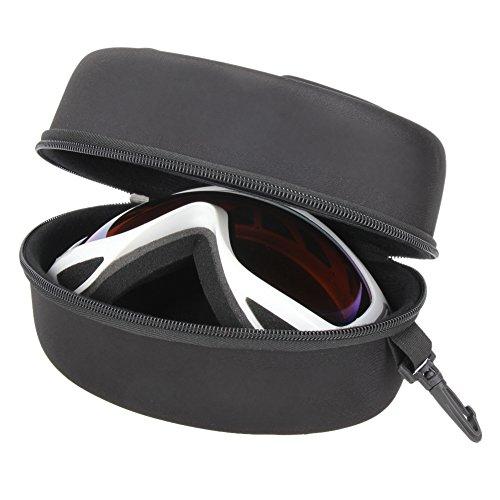 Demiawaking Reißverschluss-Haken Eva Shockproof wasserdichte Skibrillen Tasche Brillen Box