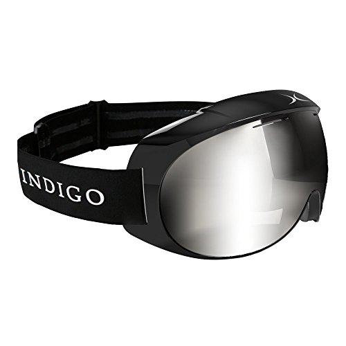 Indigo Voggle Ski-Brille Mirror Chrome Black | Standard Fit