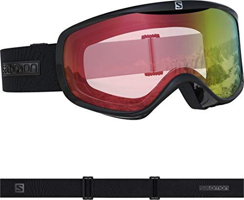 Salomon, Sense Photo, Damen-Skibrille, Schwarz/All Weather Red, L40518300