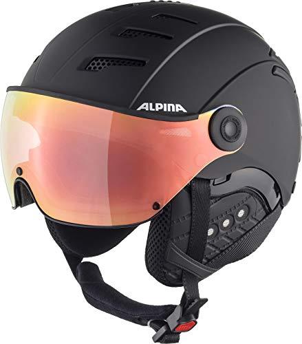 ALPINA Unisex - Erwachsene, JUMP 2.0 Q-LITE Skihelm, black matt, 59-61 cm