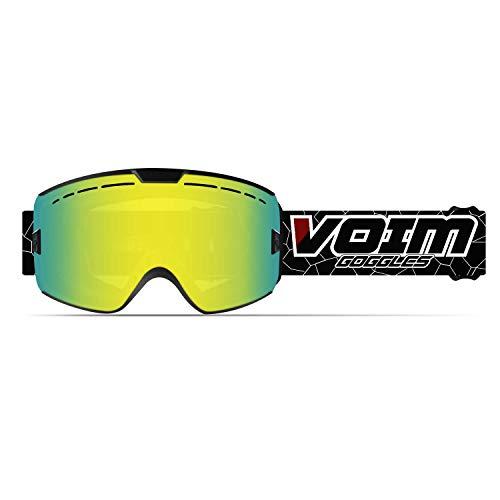 SGTTX Skibrille OTG Skibrillen UV400-Schutz Snowboardbrille Anti-Nebel Schneebrille Helmkompatible für Damen Herren Winter Skifahren Skaten