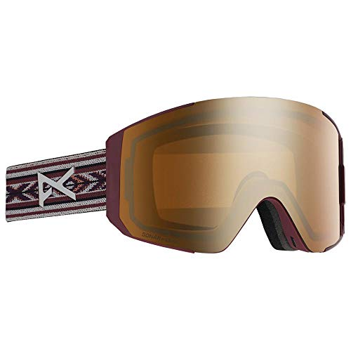 Anon W Sync with Spare Lens Braun-Rot, Damen Skibrille, Größe One Size - Farbe Bohemian - Sonar Bronze - Sonar Infrared