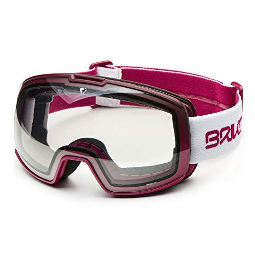 Briko NYIRA 7.6 Photo Skibrille, Matt-Weiß/Violett/Weiß, Einheitsgröße