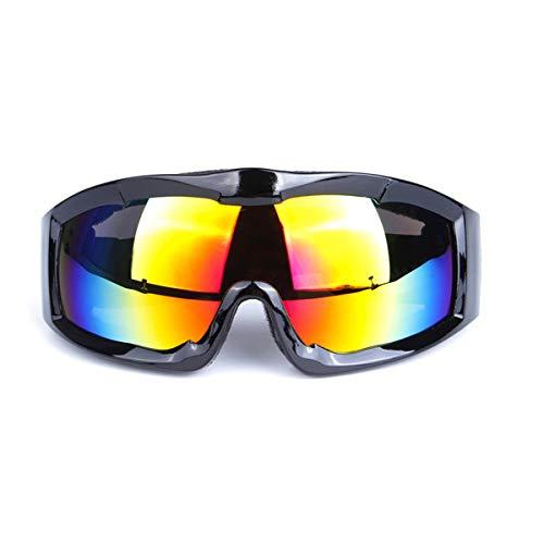 Lesrly-Cycle Skibrille, Wechselobjektive Outdoor Sports Schutzbrillen, Anti-Fog & Windsicher Uv400 Schutz, Geeignet Für Neutral Skifahren Schneemobile, Helm Kompatibel,Schwarz