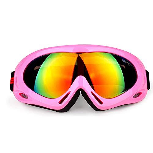 CHEYAL Sphärische Skibrille Outdoor Erwachsene Männer Und Frauen Kinder Schutzbrillen Windschutz Bergsteigen Reiten Skifahren Spiegel UV Schutz Objektiv Snowboard Gläser,Pink
