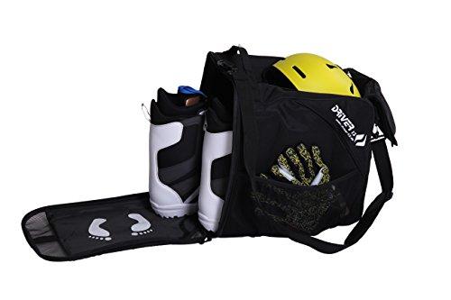 Driver13® Skischuhtasche Skistiefeltasche mit Helmfach für Hart Softboots Inliner und Bootbag Tasche