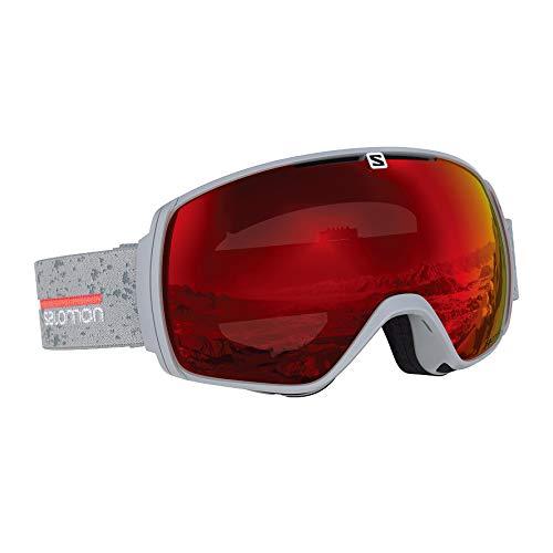 Salomon, XT One, Unisex-Skibrille, Grau (Grey Matt)/Universal Mid Red, L40519700