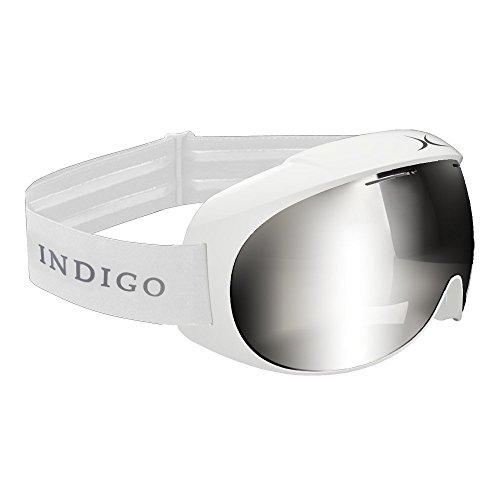 Indigo Voggle Ski-Brille Mirror Chrome White   Standard Fit