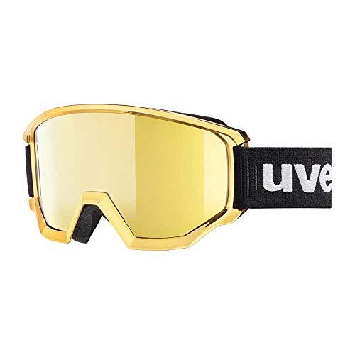Uvex Erwachsene Athletic FM Skibrille, Gold Chrom, one Size