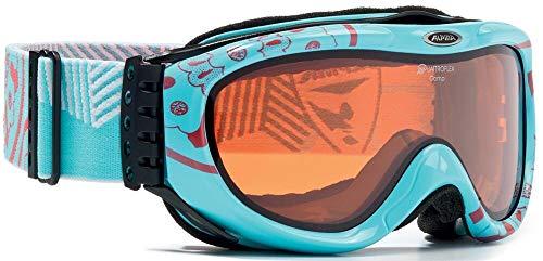 ALPINA Comp Damenskibrille (Farbe: 083 hellblau/Flamingo, Scheibe: QUATTROFLEX)