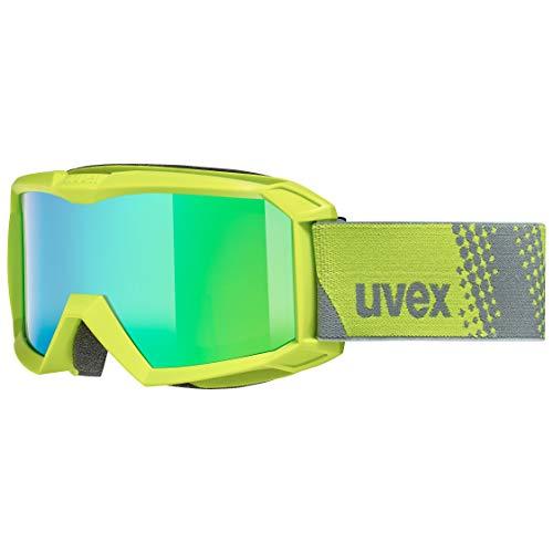 uvex Unisex Jugend, flizz FM Skibrille, lime, one size