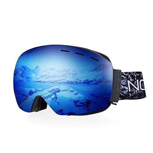 NODLAND S1 Skibrille - Auch für Brillenträger (OTG - Over The Glasses) - Anti-Nebel Snowboard 100% UV400 UV-Schutz für Damen Herren