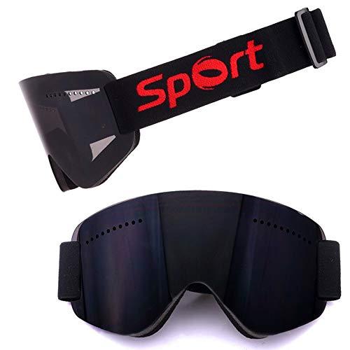 LG Schnee Anti-Fog-Anti-Wind Schwarz Skibrille Reiten Bergsteigen Schneeausrüstung Motocross Außenwintersport Ultra Randlos Zylinderspiegel-Geschenke for Männer Frauen