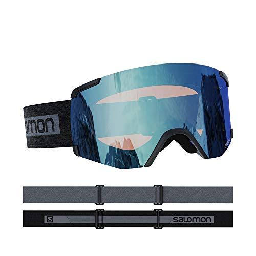 Salomon, S/VIEW, Unisex-Skibrille, Medium-Small Fit, Schwarz/Universal Mid Red, L41190800
