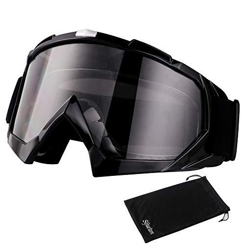 Motorradbrillen Skibrille Anti Fog UV Schutzbrille mit Double Lens Schaumstoffpolsterung für Outdoor Aktivitäten Skifahren Radfahren Snowboard Wandern Augenschutz
