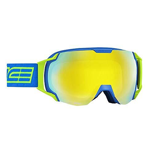 Salice 619DARWF Skibrille SR Hellblau Doppel ANTIFOG Rainbow Gelb Unisex Erwachsene Beschreibung Montat:Hellblau, UNICA