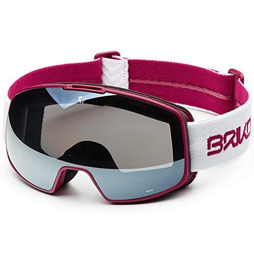 Briko NYIRA Skibrille, Matt-Weiß/Violett/Weiß, Einheitsgröße