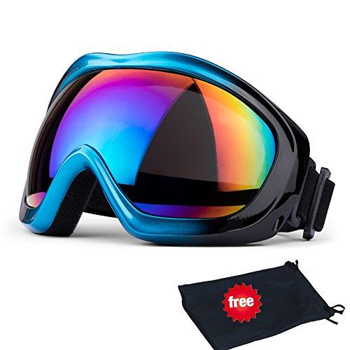 JTENG Skibrille, Ski Snowboard Brille UV-Schutz Skibrille Brillenträger Schneebrille Snowboardbrille Verspiegelt Motorradbrillen Für Damen Herren Mädchen Jungen