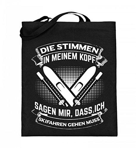 Chorchester Hochwertiger Jutebeutel (mit langen Henkeln) - Für alle, die Ski fahren lieben!