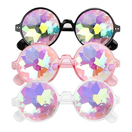E-More 3er Kaleidoscope Goggles Weinlese-Art Gotische Retro Steampunk Cosplay Brille Glasses Welding Punk Brille