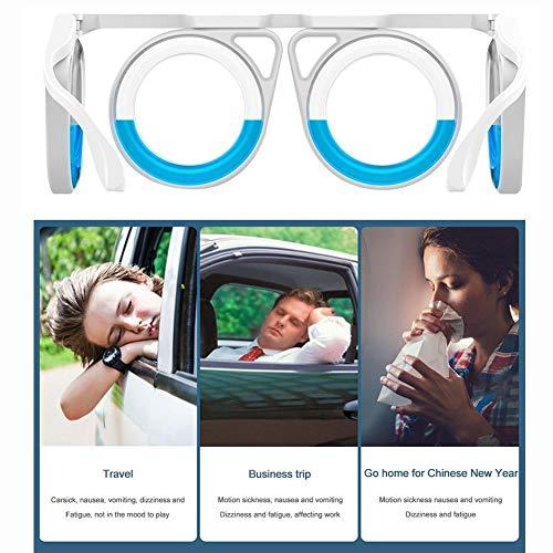 Brille Gegen Seekrankheit Brille丨Anti-Bewegungs-Krankheit Brille丨Gegen Seekrankheit Seasick Airsick Flüssige Anti-Bewegungs-Krankheit Brille, Ultraleichte, für alle Reisekrankheit, Boot, Flugzeuge