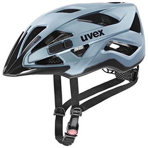 uvex Unisex– Erwachsene Active cc Fahrradhelm, spaceblue mat, 52-57 cm