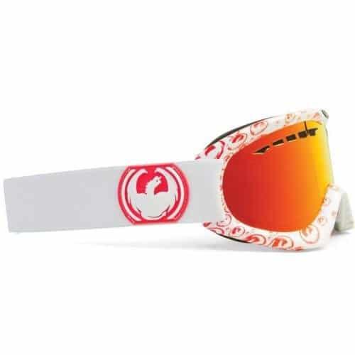 Dragon Dx Bonus Lens weiß mit orangenem Logo