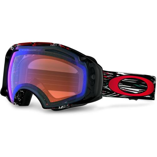 Oakley Airbrake white black and red logo